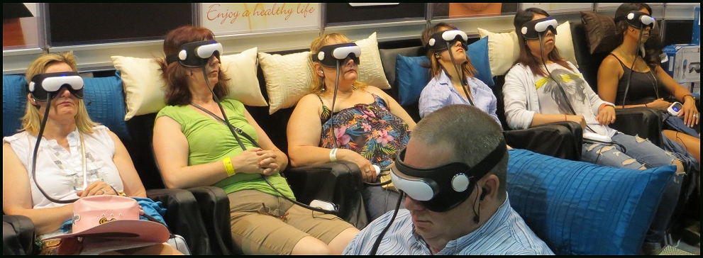 a relaxation sales place in 2015 - to represent using virtual reality and the computer controlling our lives - 314 kb
